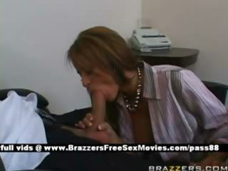 mature redhead bitch at work gets a blowjob