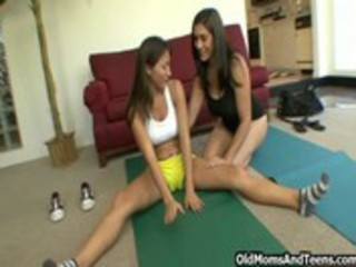 lesbian milf fitness