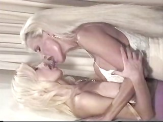 Two vintage porn stars with enormous kahunas