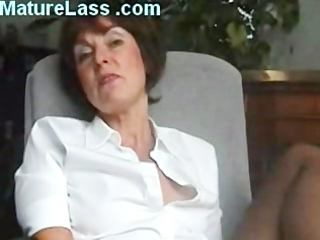 hot british older talks bawdy and spreads legs to