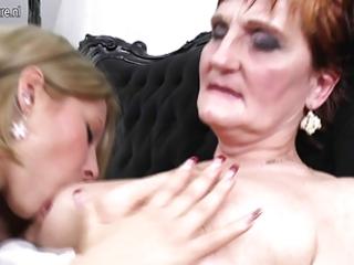 grandma teaching young girl a lesbo love