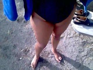 my indian wife engulfing my cock on public beach