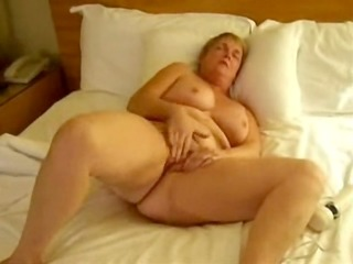 aged wife masturbating with toys