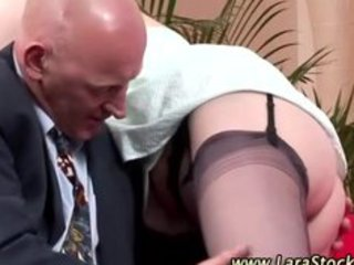 older stocking classy lady oral-service