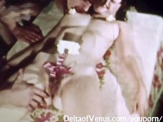 vintage porn 2412s - curly twat brunette hair sex