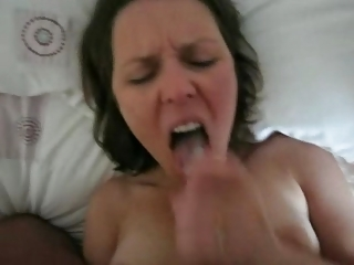 hot wife drink her mans load