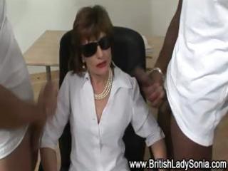femdom mature sexy brit acquires cumshots