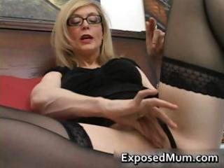 golden-haired mum in glasses licking hard part3