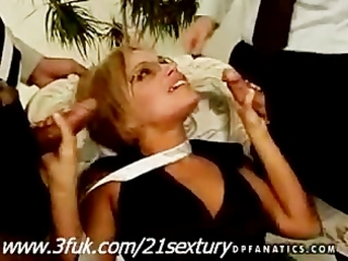 blond d like to fuck szilvia lauren in 9some act