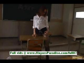 nagomi momono excited oriental teacher at school