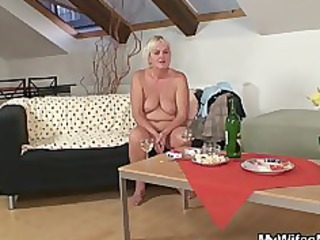 drunk fuckfest with lewd granny and her son in law
