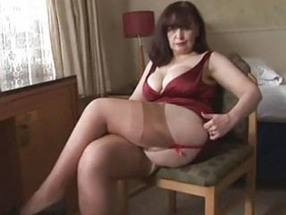 large wobblers mature panty play and striptease