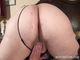 naughty aged pleasuring lewd snatch