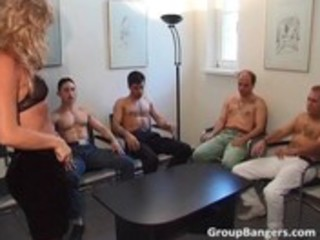 amateur gang bang party with threesome aged