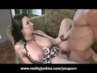 MILF gagging for his cock