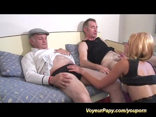 papy and boy-friend fuck same doxy