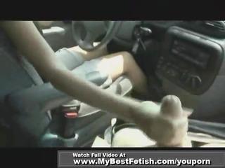 handjob whilst driving