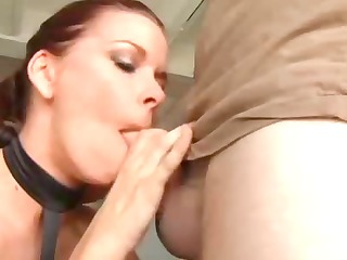 deepthroat queen gives sloppy blowjob