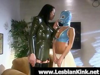 lesbos in rubber clothes flogging booties