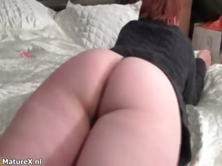 aged redhead housewive receives lustful