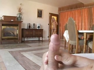 gutsy bitch takes jocks up her holes at one time