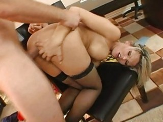 fascinating breasty golden-haired milf acquires