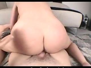 breasty milf tasting sticky cum