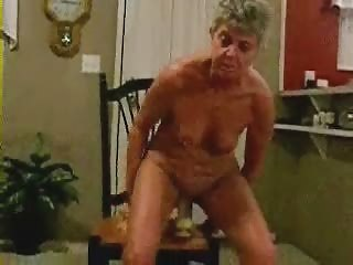 horny granny riding a large toy