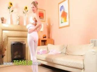 hawt mommy in white hose disrobe
