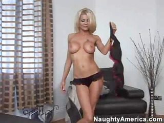 smoking sexy blond housewife