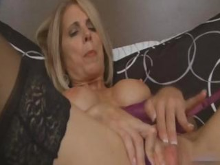 blonde d like to fuck masturbates in black nylons