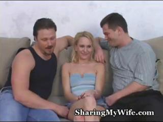 small blond wife is getting screwed by his ally
