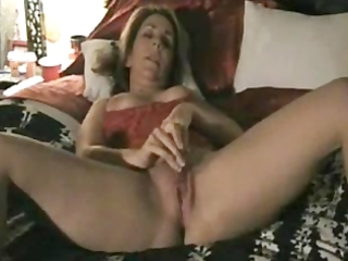 older wife play with dildo and hubby tapes it