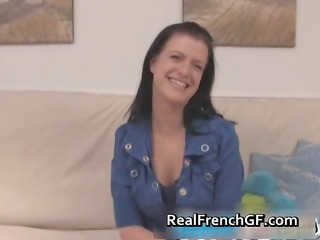 brunette hair french gf sucks and gets part8