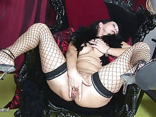 kinky mama getting naughty with her rubber toy