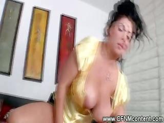 breasty cfnm chicks ride and engulf hard wang