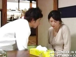 Japanese the son decided to protect a his mom