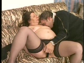 older fattie knows how to please her man
