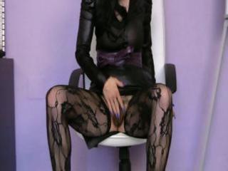 aged skinny skank in darksome stockings
