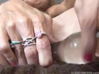 older redhead bonks her wet crack and arsehole