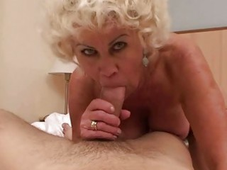 lustful granny in hard pov action