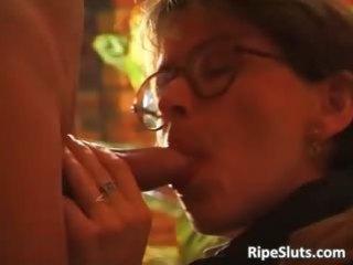 concupiscent aged brunette receives her wet part3