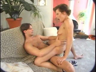 mature babe on a sofa - brookland brothers