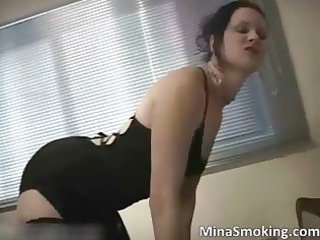 amazing hawt darksome haired milf wench