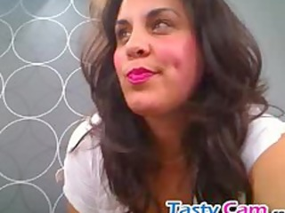 sexy mother i with big mounds teasing on cam