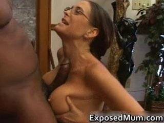 hawt milf in glasses deepthroating dark part7