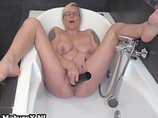 horny aged lady fucking her own tight part4