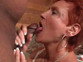 hawt redhead granny cougar takes bbc