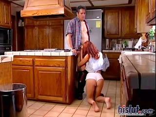 britney fucks in the kitchen
