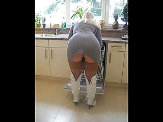 thick &; curvy older golden-haired